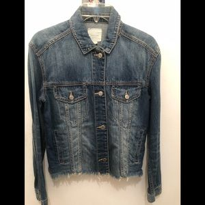 AMERICAN OUTFITTERS DISTRESSED DENIM JACKET